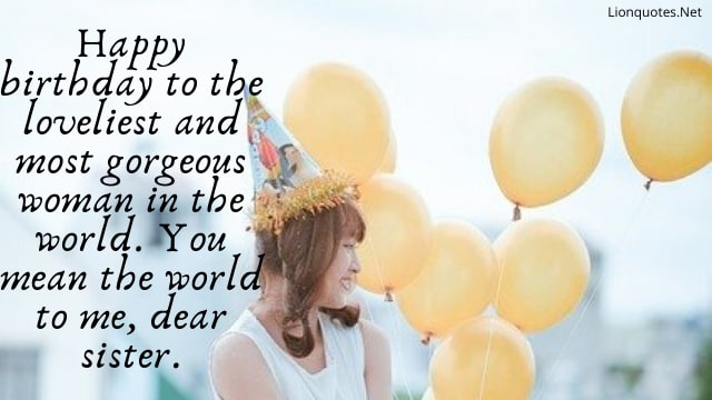 Birthday Quotes For Sister - Happy Birthday Sister quotes
