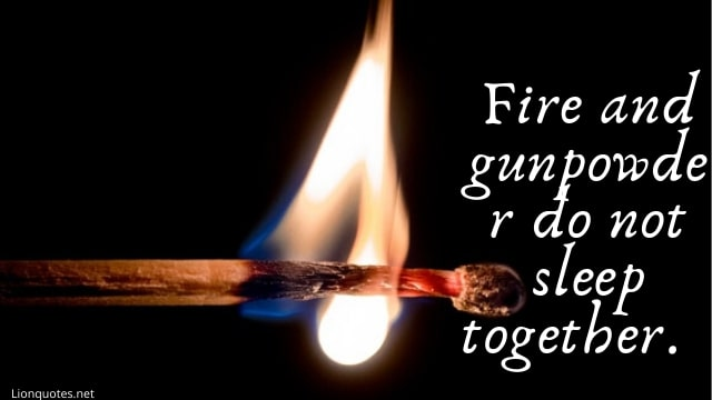 Quotes About Fire With Images For Instagram - Sayings About Fire