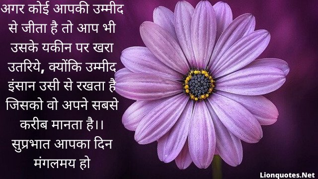 Good Morning Inspirational Quotes With Images in Hindi