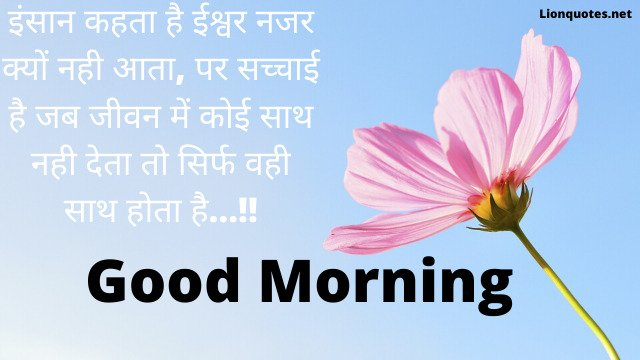 100+Inspirational Good Morning Quotes in Hindi - With Images