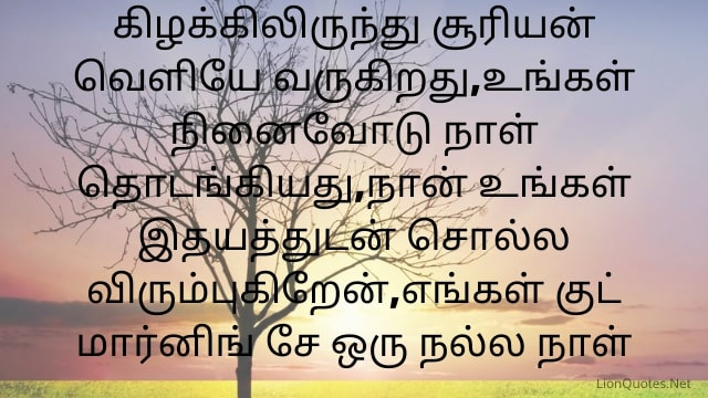 Good Morning Quotes in Tamil With Images - Motivational - Positive