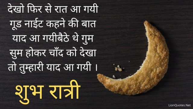 Good Night Quotes in Hindi With Images - Shubh Ratri - Good Night Status