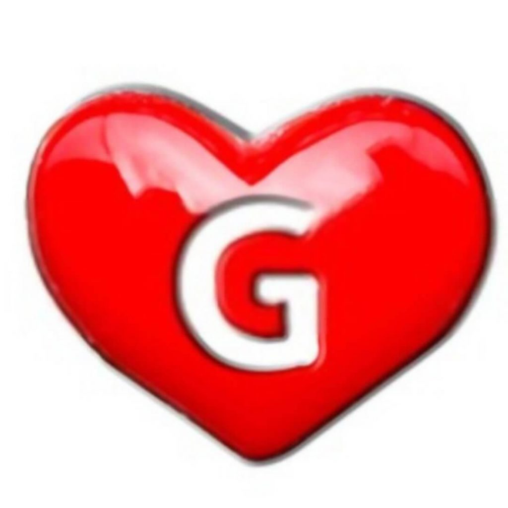 G letter Images in heart